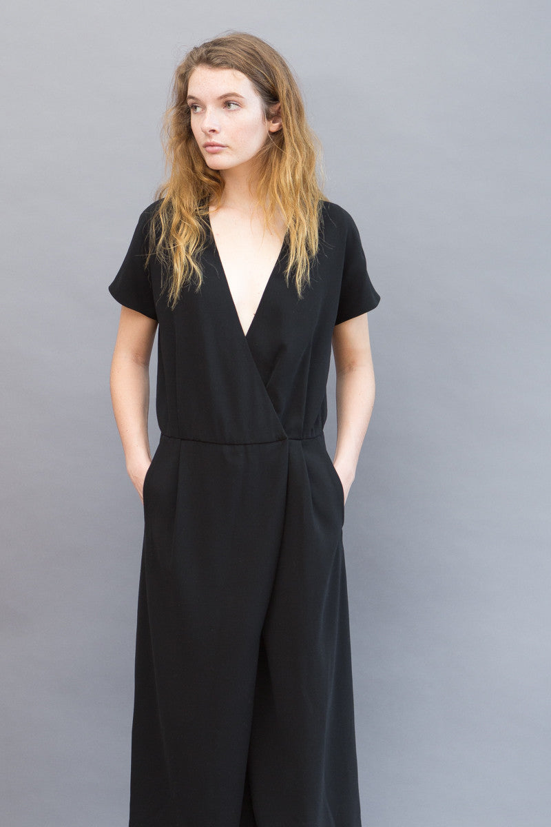 Peserico Short Sleeve Jumpsuit Split Skirt