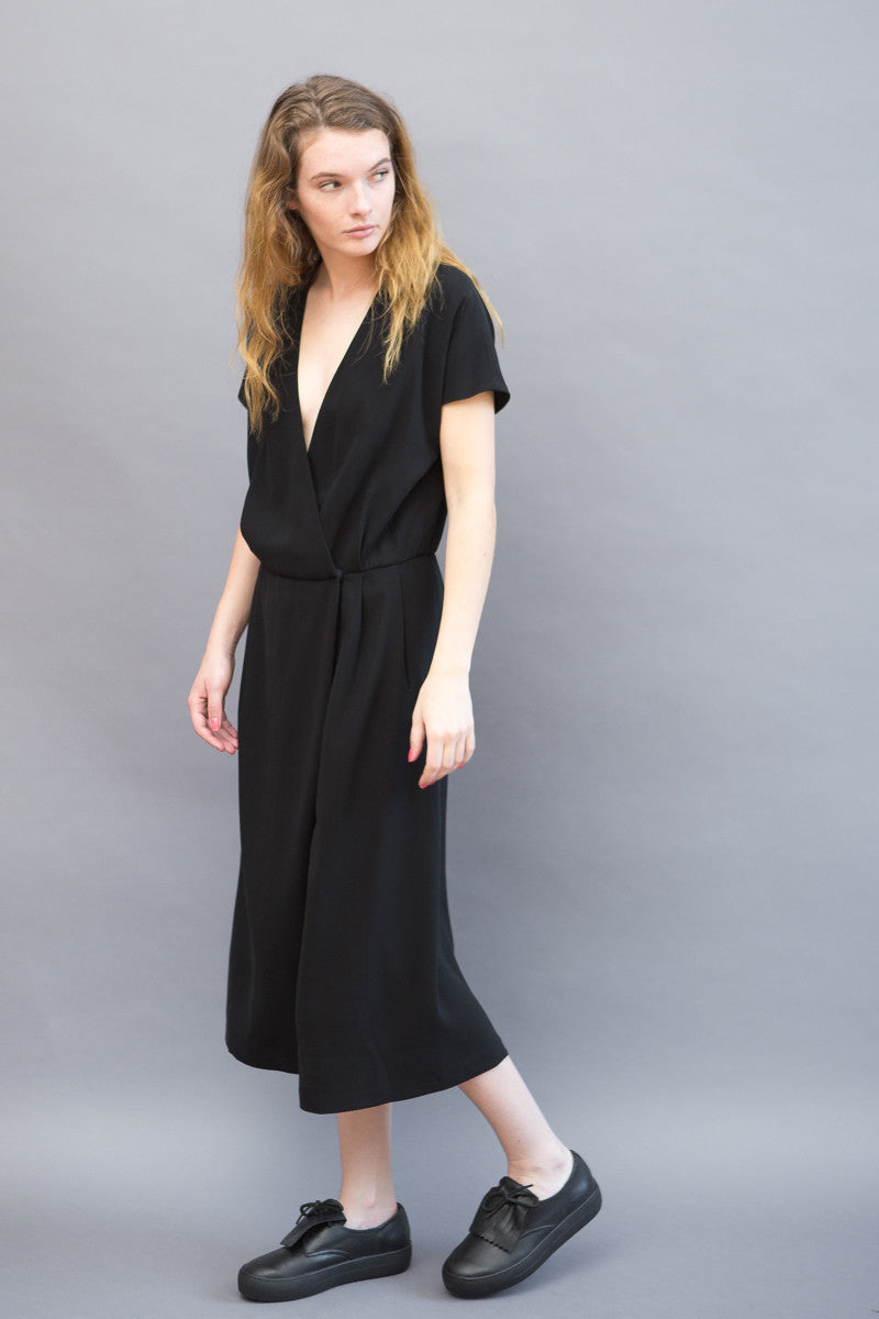 Peserico Short Sleeve Jumpsuit Split Skirt - grethen house