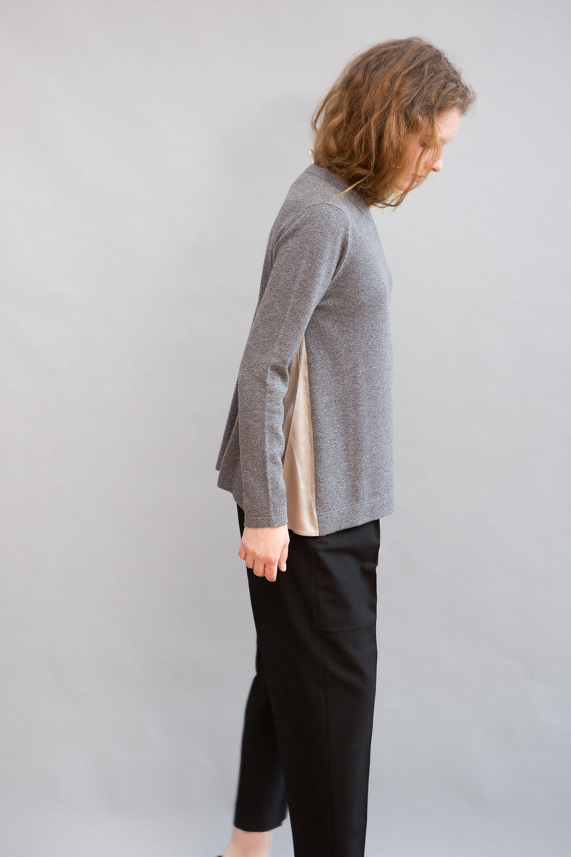 Peserico Silk Side Insert Sweater - grethen house