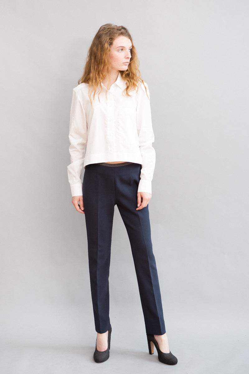 Peserico Skinny Side Zip Pant - grethen house