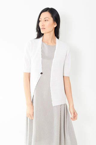 Peserico White Single Button Cardigan Knit