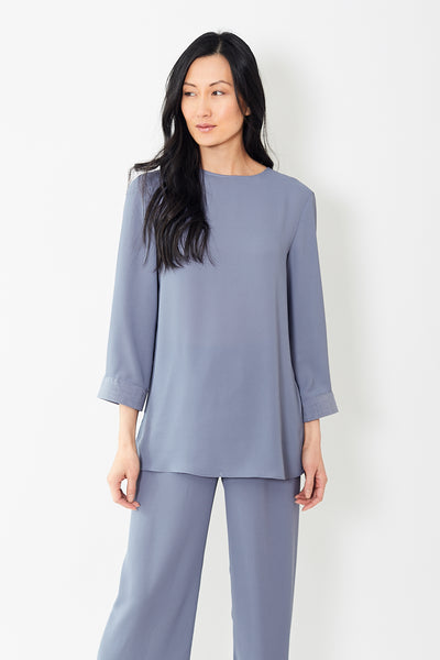 Peter Cohen Cuff Blouse Tech Georgette