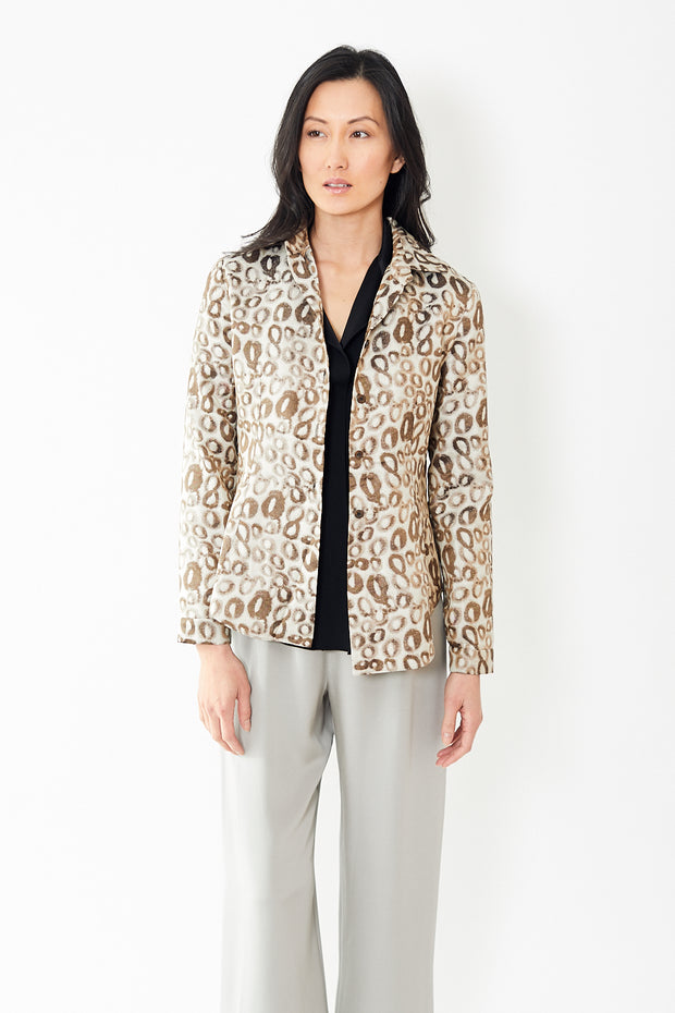 Peter Cohen Eve Blouse Silk Circles Weave