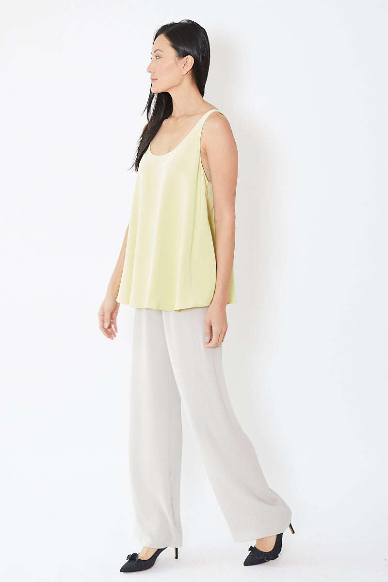 Peter Cohen Wide Pull on Pant Tech Georgette