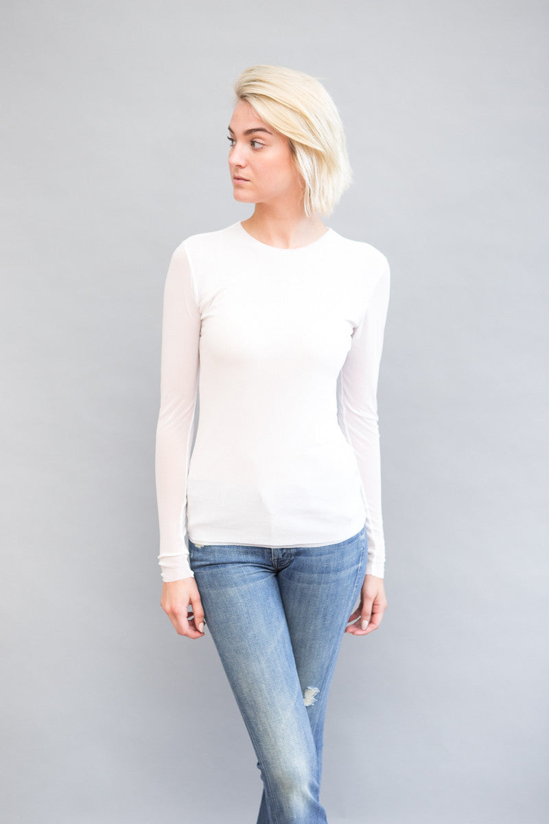 Petit Pois by Viviana Long Sleeve Mesh Crew - grethen house