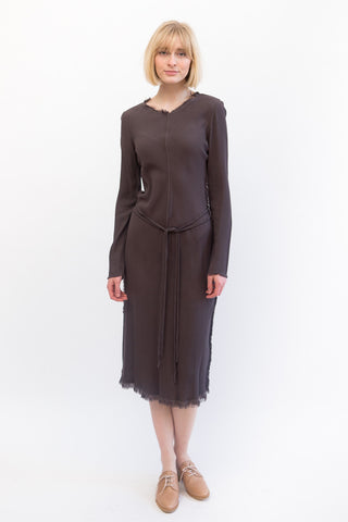 Raquel Allegra Bias Long Sleeve Dress