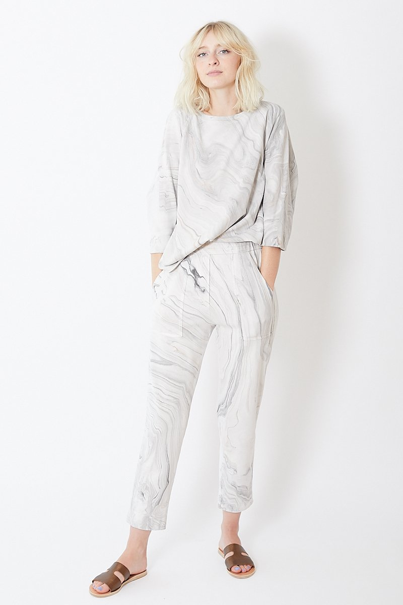 Raquel Allegra French Terry Cropped Track Pant