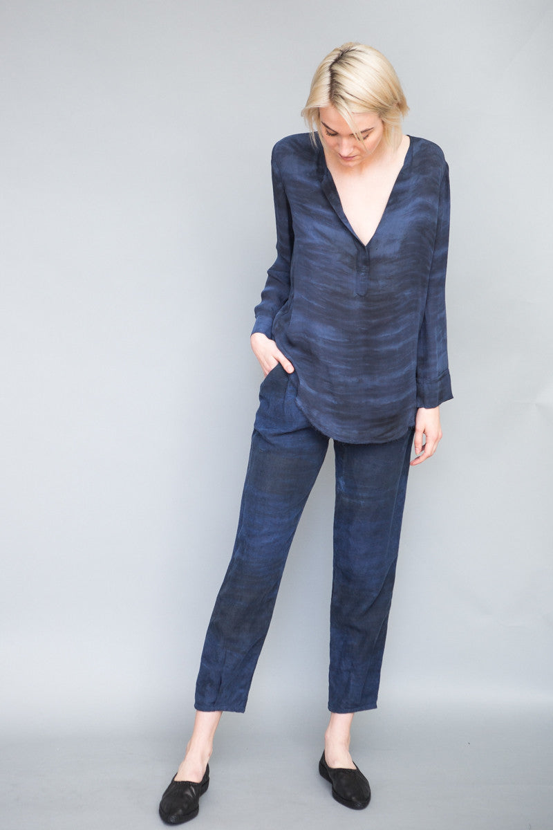 Raquel Allegra Georgette Henley Top