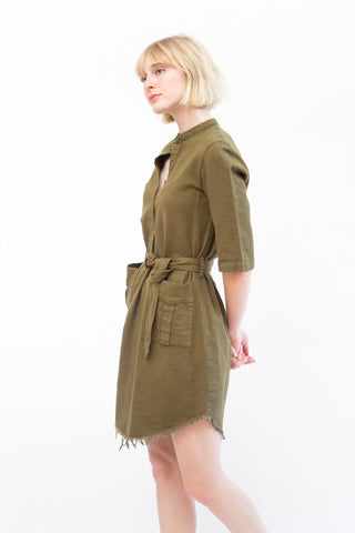 Raquel Allegra Henley Cargo Dress