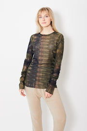 Raquel Allegra Mesh Fitted Long Sleeve Shirt