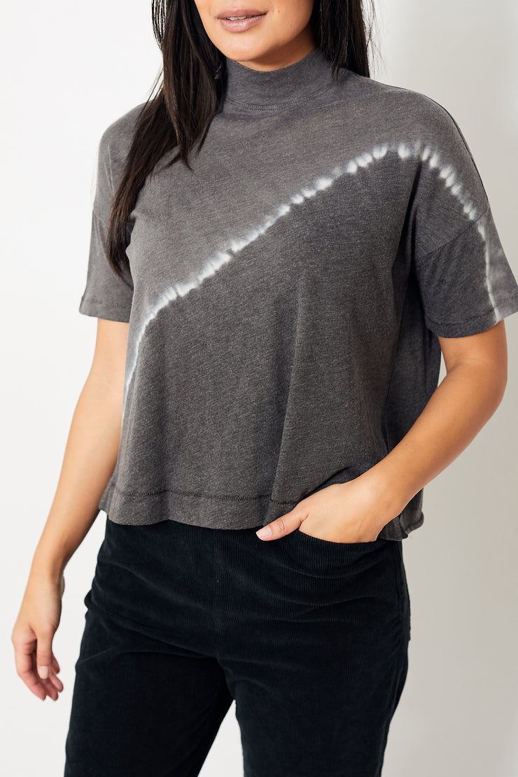 Raquel Allegra Mock Neck Boxy Top