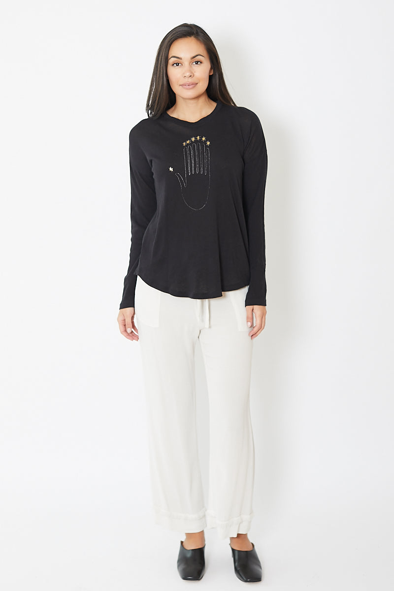 Raquel Allegra Palm Long Sleeve Tee