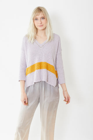Raquel Allegra V-Neck Crop Sweater