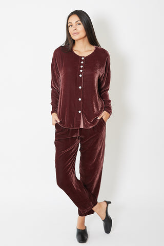 Raquel Allegra Velvet Button Up
