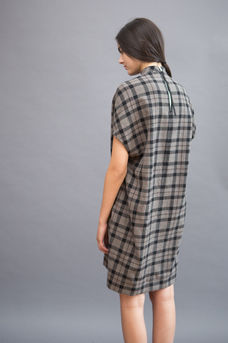 Rick Owens Island Tunic Plaid Wool - grethen house