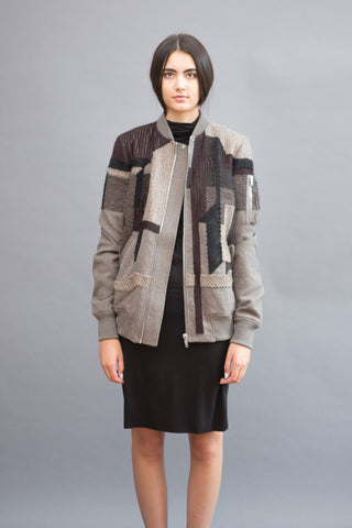 Rick Owens Long Bomber Embroidered - grethen house