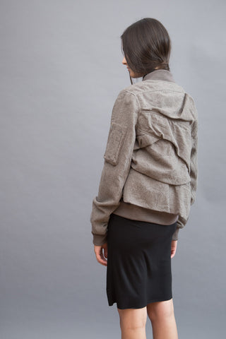 Rick Owens Ripple Flight Jacket - grethen house