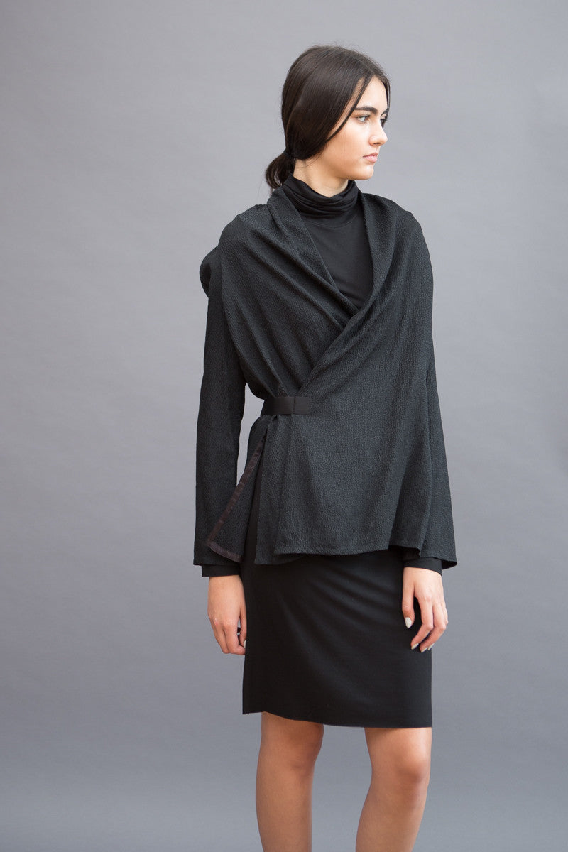 Rick Owens Wrap Long Sleeve Top - grethen house