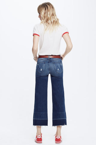 Mother Roller Crop Undone Wide Hem
