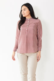 Rosso 35 Half Button Silk Blouse