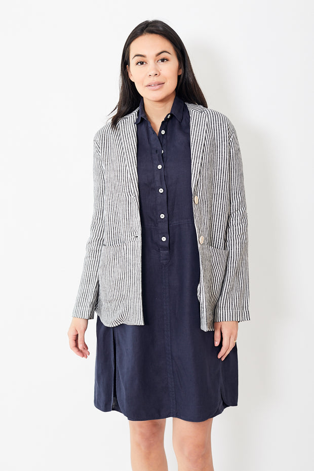 Rosso35 Linen Striped Jacket