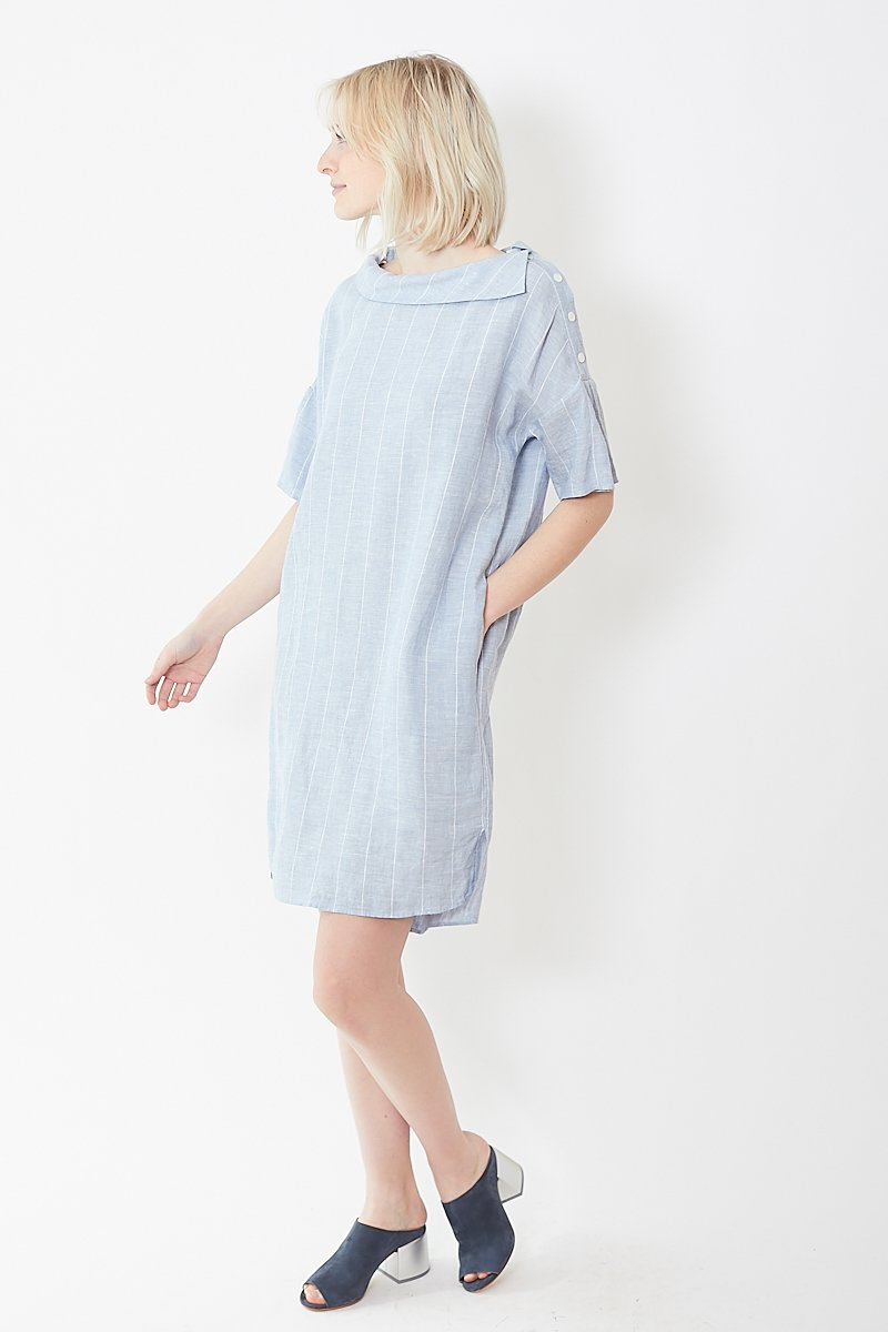 Rosso35 Striped Linen Dress