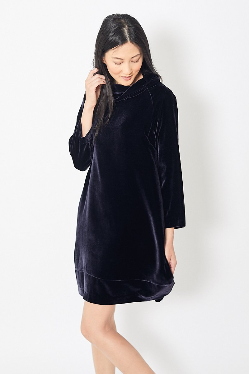 Rosso35 Velvet Turtleneck Dress