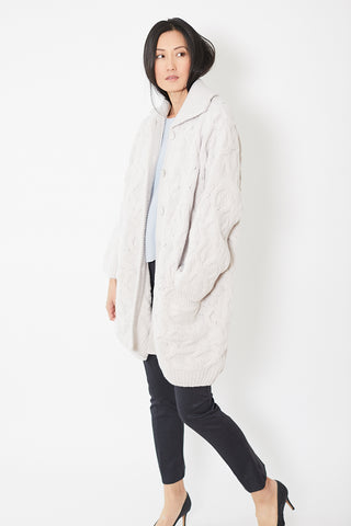 Rossopuro Long Cable Cardigan