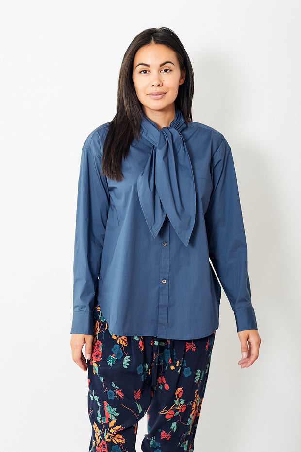 Sea NY Louise Neck Tie Blouse