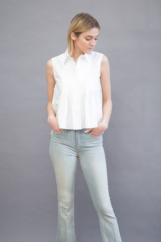 Sea NY Pintuck Sleeveless Shirt