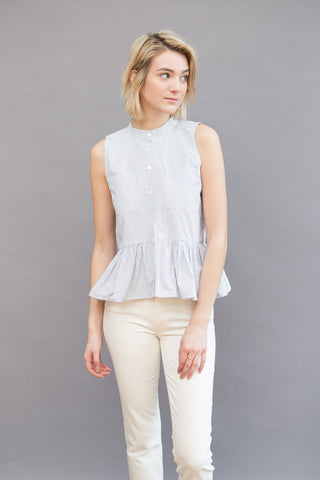 Sea NY Sleeveless Ruffle Top