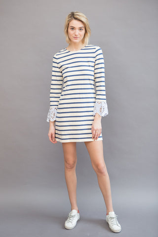 Sea NY Stripe & Eyelet Dress
