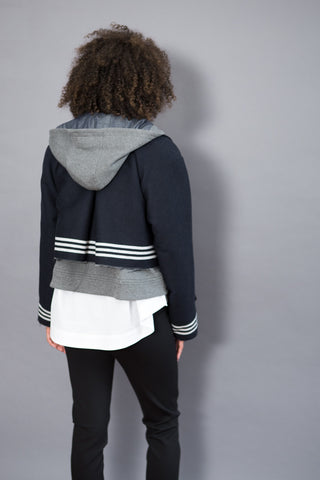 Sea NY Stripes Sweatshirt Jacket