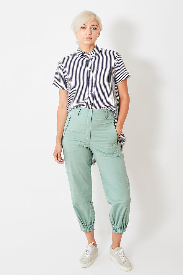 Seventy Cotton Gathered Hem Pants