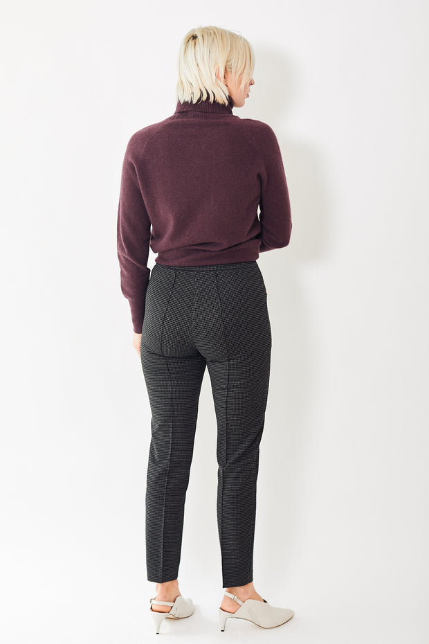 Seventy Houndstooth Slim Side Zip Trousers