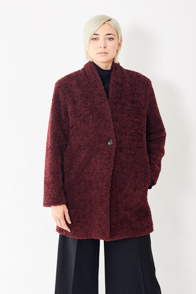Seventy Shawl Collar Mock Fur Coat