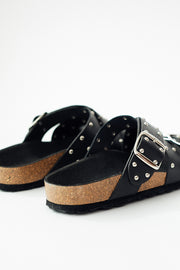Shoe The Bear Cara Cross Studs Sandal Black
