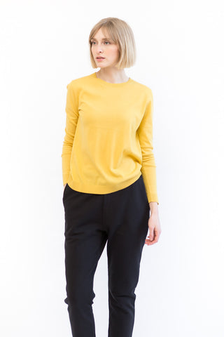 Sibel Saral Long Sleeve Crew With Cuff Pleat