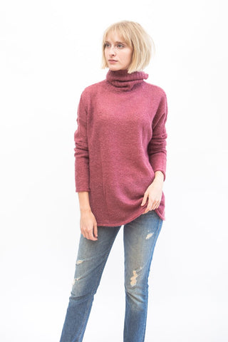 Simon Miller Goleta Turtleneck Sweater Ruby Pink