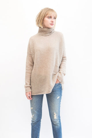 Simon Miller Goleta Turtleneck Sweater Stone