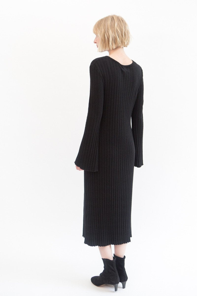Simon Miller Wells Long Sleeve Ribbed Dress