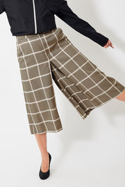 Smarteez Checked Pleat Culotte