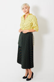 Smarteez Pleated Stripe Skirt w/ Outside Pocket