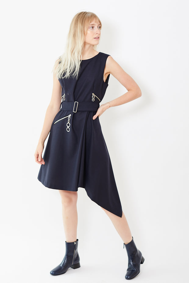 Smarteez Asymmetrical Belted Dress