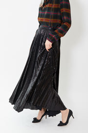 Smarteez Long Pleated Sparkle Skirt