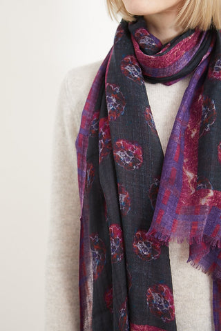 Stevie Howell Phoebe Flower Cashmere Silk Scarf