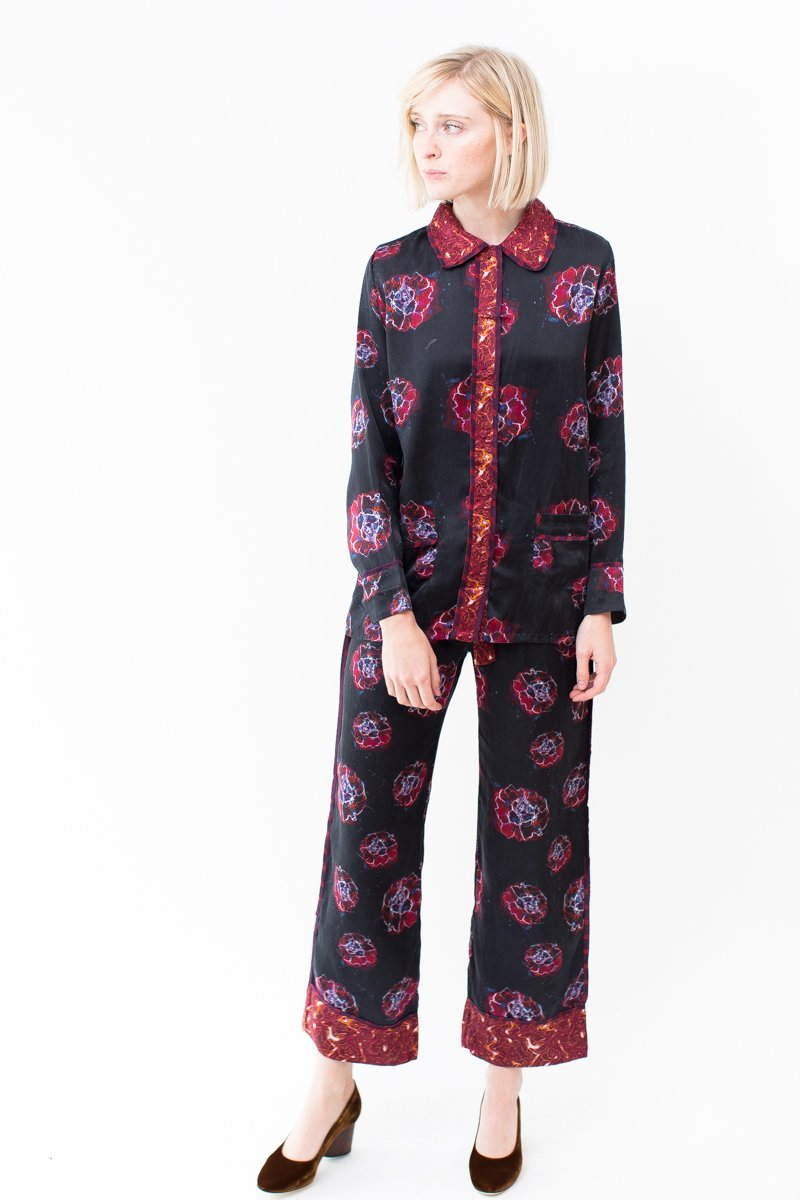 Stevie Howell Silk Pajama Set