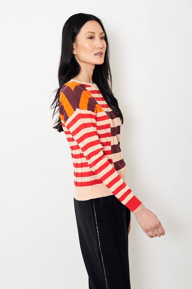 Tela Gas/Righe Sweater