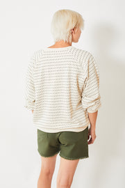 The Great The Swiss Dot Bubble Sweatshirt