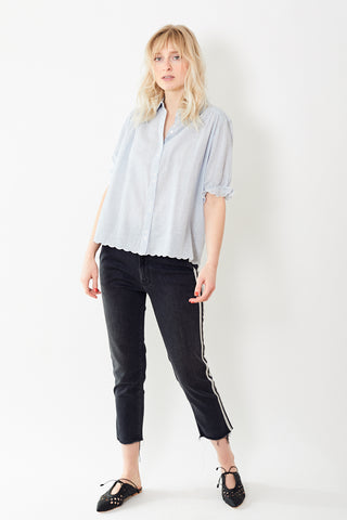 The Great The Kerchief Top With Cream Embroidery